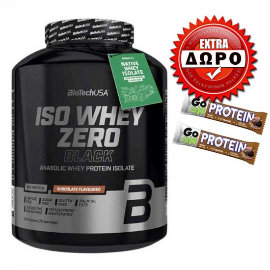 Iso Whey Zero Black 2270gr - Biotech USA + ΔΩΡΟ δύο Go-On protein bars 50g