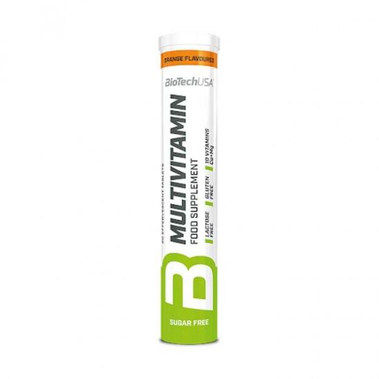 Multivitamin 20 αναβράζοντα δισκία Πορτοκάλι - Biotech USA