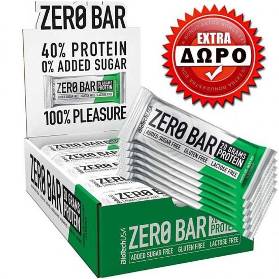 Zero Bar 20x50gr και ΔΩΡΟ 6 τμχ - BioTech USA