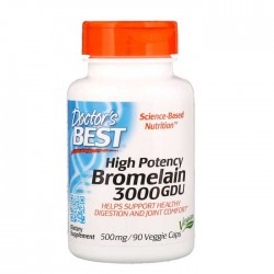 High Potency Bromelain 3000 GDU 500 mg 90 Vcaps - Doctor's Best
