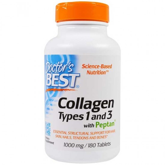 Collagen Types 1 & 3 with Peptan 1000mg 180tabs - Doctor's Best