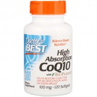 High Absorption CoQ10 with Biopiperine 100mg - 120vcaps - Doctor's Best