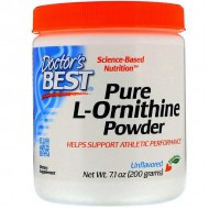 Pure L-Ornithine Powder 200 grams - Doctor's Best