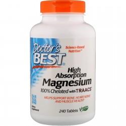 High Absorption Magnesium 240 ταμπλέτες - Doctor's Best / Μαγνήσιο
