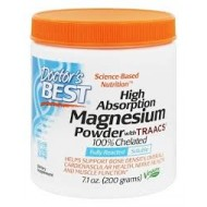 High Absorption Magnesium Powder with Traacs 100% Chelated 200γρ / Doctors Best / Μαγνήσιο Αμινοξέα Σκόνη