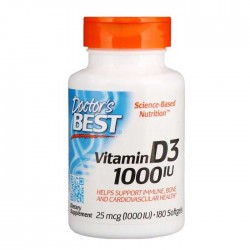 Vitamin D3 1000 IU 180 softgels - Doctor's Best