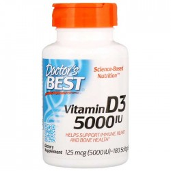 Vitamin D3 5000 IU 180 softgels - Doctor's Best