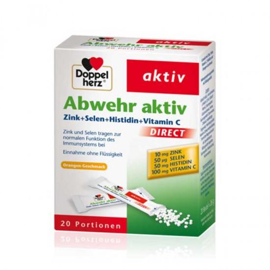 Abwehr Aktiv 20 Φακελάκια - Doppelherz / Ψευδάργυρος + Σελήνιο + Ιστιδίνη + Βιταμίνη C