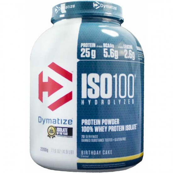 ISO-100 2200 grams - Dymatize / Υδρολυμένη Isolate Πρωτεϊνη