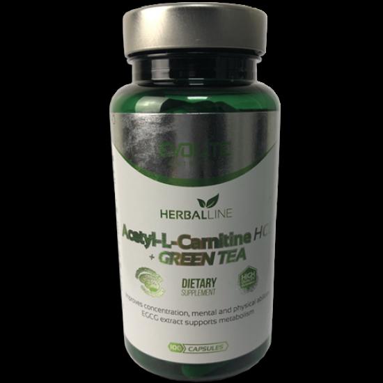Acetyl L-Carnitine HCI Green Tea 100 κάψουλες - Evolite / Καρνιτίνη Λιποδιαλύτης