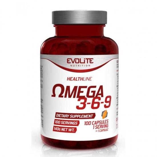 Omega 3-6-9 100 caps - Evolite - Ωμέγα Λιπαρά Οξέα