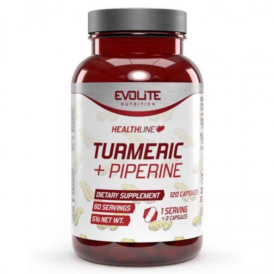 Turmeric + Piperine 120 caps - Evolite
