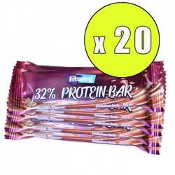 32% Protein Bar 20 x 50g - Fitway