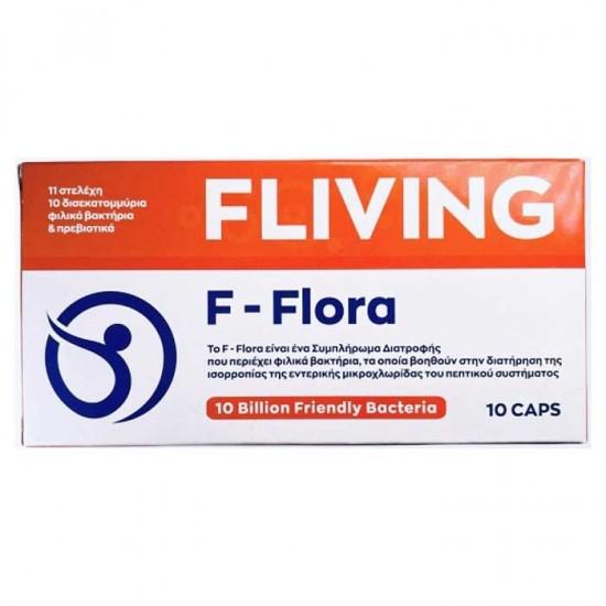 F-Flora 10 billion Bacteria 10caps - Fliving