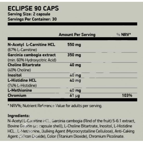 Eclipse 60 caps - Mirage Sport Nutrition