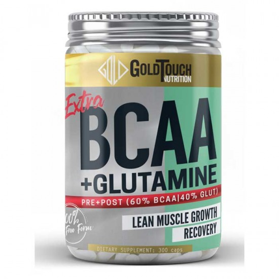 Extra BCAA + Glutamine 300caps - GoldTouch Nutrition