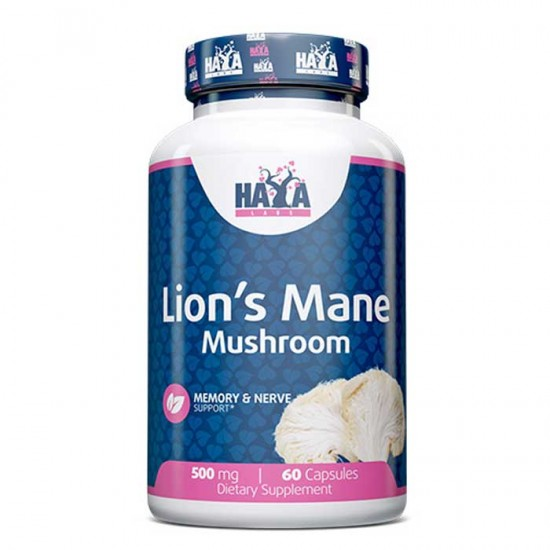 Lion's Mane Mushroom 500mg 60 caps - Haya Labs