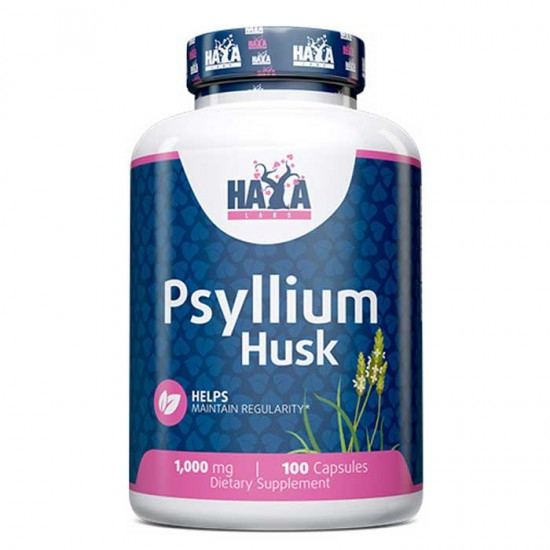 Psyllium Husks 500mg 100 caps - Haya Labs
