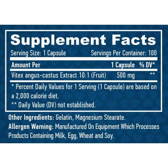 Vitex Fruit Extract 100 caps - Haya Labs /  Agnus Castus