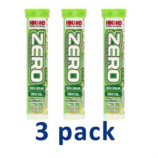 Zero High5  - 3pack 3x20 αναβράζουσες ταμπλέτες / Ηλεκτρολύτες