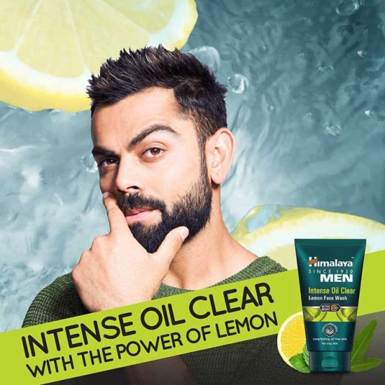 Intense Oil Clear Lemon Mens Face Wash 100 ml - Himalaya