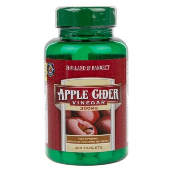 Apple Cider Vinegar 300mg 200 tabs - Holland & Barrett