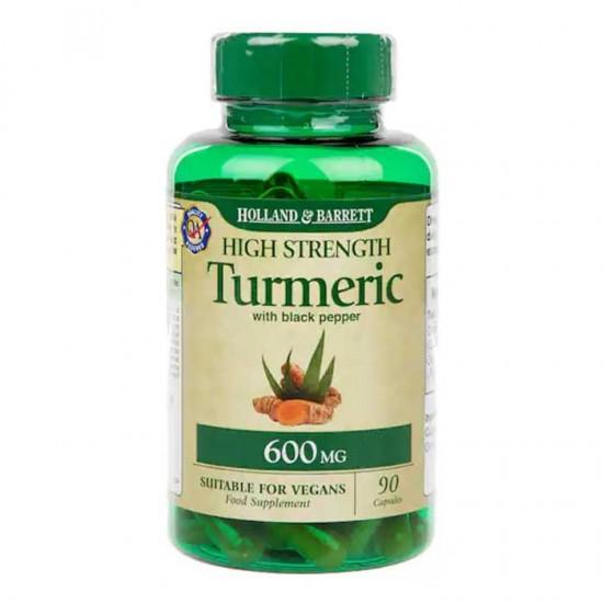 Turmeric Organic with Black Pepper 600mg 90 caps - Holland & Barrett