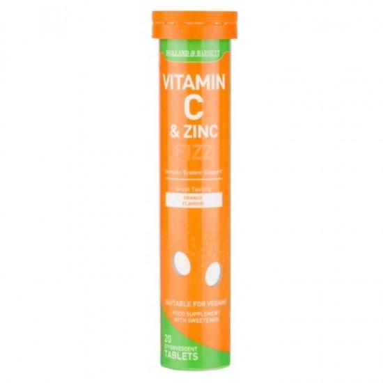 Vitamin C and Zinc 20 Αναβράζοντα δισκία - Holland & Barrett