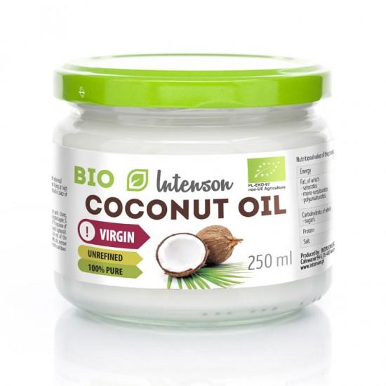 Αγνό Βιολογικό Λάδι καρύδας 250ml - Intenson (Coconut Oil - Olej Kokosowy)