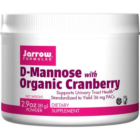 D-Mannose with Organic Cranberry 81gr - Jarrow Formulas / Ουροποιητικό