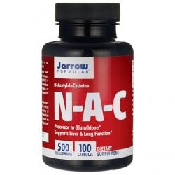 N-A-C N-Acetyl L-Cysteine NAC 500mg 100 κάψουλες - Jarrow / Συκώτι - Πνευμόνια