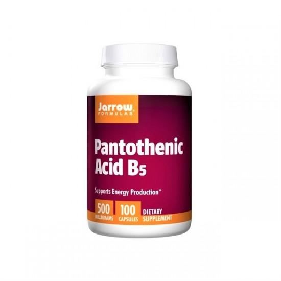 Pantothenic Acid B5 500mg 100Vcaps - Jarrow Formulas