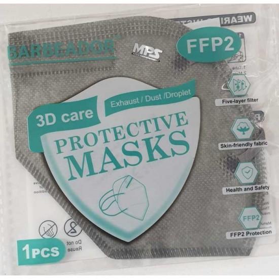 KN95 FFP2 Μάσκα Υψηλής Προστασίας Γκρι  20τμχ - Barbeador