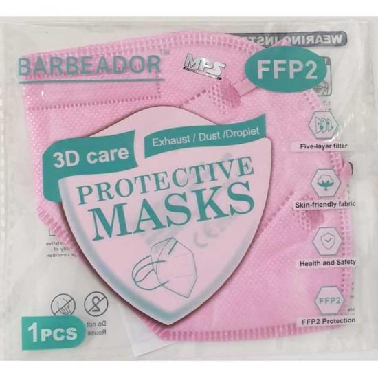 KN95 FFP2 Μάσκα Υψηλής Προστασίας Ροζ 20τμχ - Barbeador