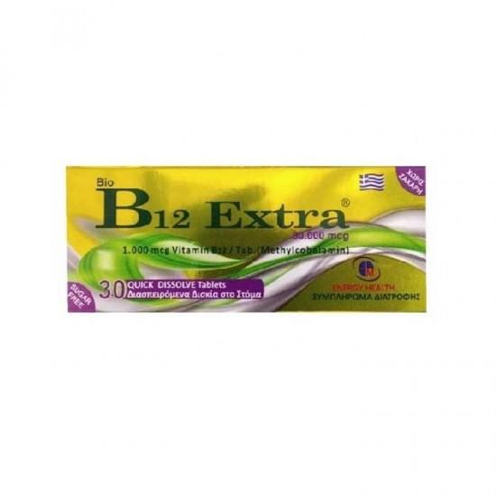 Bio B12 Extra 1000mg 30 tabs - Medichrom