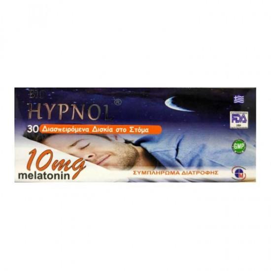 Bio Hypnol Melatonin 10mg 30 Διασπειρόμενα Δισκία - Medichrom