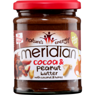 Cocoa Peanut Butter με Καρύδα και Μέλι 280γρ - Meridian / Φυστικοβούτυρο Κακάο