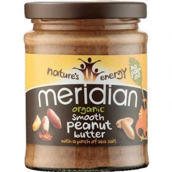 Organic Smooth Peanut Butter 280γρ Γυάλινο Βάζο- Meridian / Οργανικό Φυστικοβούτυρο