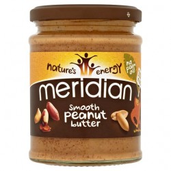 Peanut Butter 280gr Γυάλινο Βάζο - Meridian / Υγιεινές Τροφές - Φυστικοβούτυρο