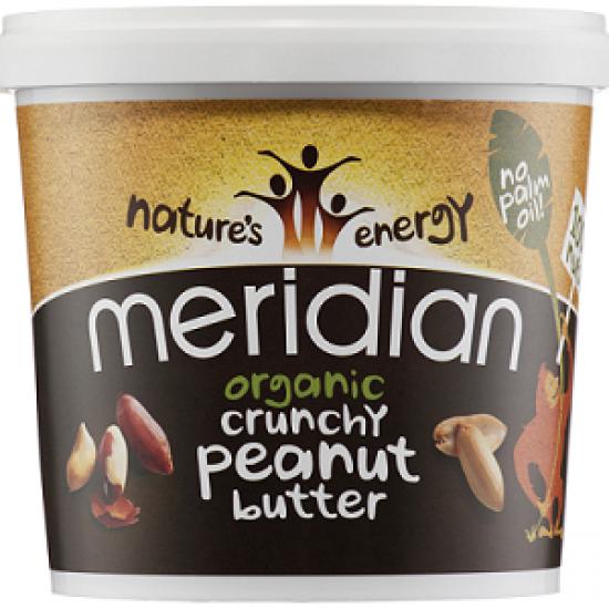 Organic Peanut Butter Crunchy 1kg - Meridian Φυστικοβούτυρο Οργανικό / Υγιεινές Τροφές