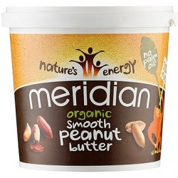 Organic Smooth Peanut Butter 1kg - Meridian /  Οργανικό Φυστικοβούτυρο