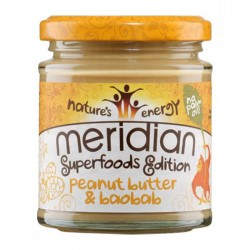 Peanut butter and Baobab 170g - Meridian / Φυστικοβούτυρο