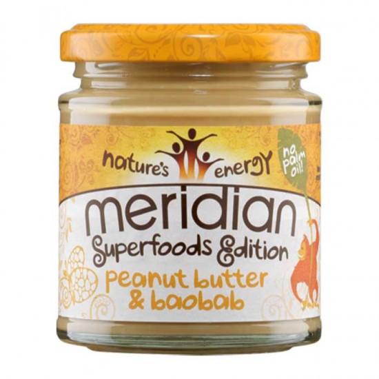 Peanut butter and Baobab 170g - Meridian / Φυστικοβούτυρο