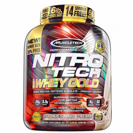 Nitrotech Performance Whey Gold 5,5lbs - MuscleTech / Πρωτεϊνη Γράμμωσης