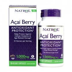 Acai Berry 1000mg 75 tabs - Natrol / Αντιοξειδωτικό - Φυτικά Συμπληρώματα