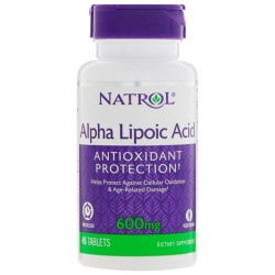Alpha Lipoic Acid 600mg 45 ταμπλέτες - Natrol / Ειδικά Προϊόντα