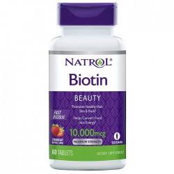 Biotin Fast Dissolve 10000mcg 60 ταμπλέτες - Natrol / Βιταμίνες