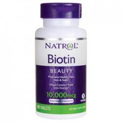 Biotin Maximum Strength 10.000 mcg 100 ταμπλέτες Βιοτίνη - Natrol / Βιταμίνη