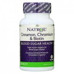 Cinnamon Chromium Biotin 60 ταμπλέτες Natrol / Μεταβολισμός