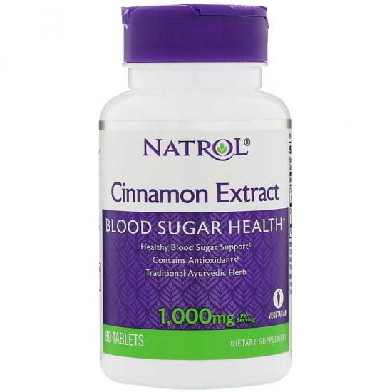 Cinnamon Extract 1000mg 80 ταμπλέτες - Natrol / Ειδικά Προϊόντα